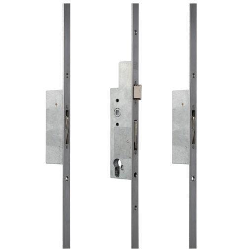 Sobinco 8401 meerpuntsluiting met vlakke voorplaat - Open toestand