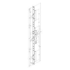 Technische tekening Sobinco 8401 met vlakke voorplaat