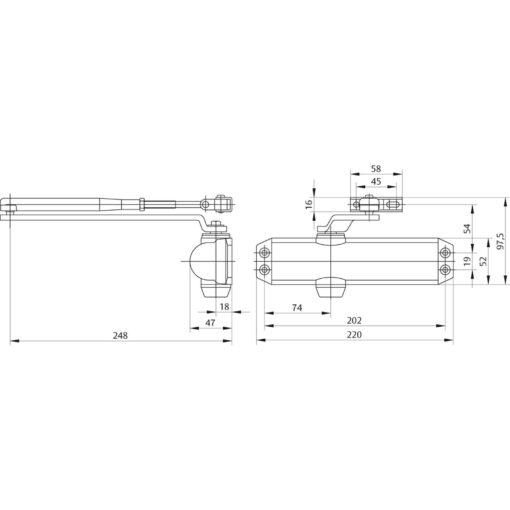 Assa Abloy DC120 - Technische tekening
