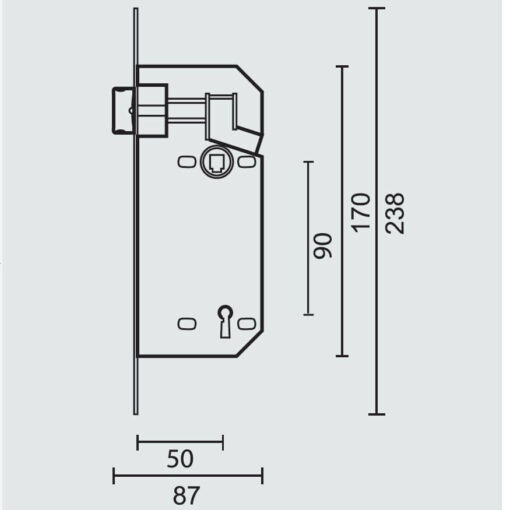 AGB Baardslot - Technische tekening