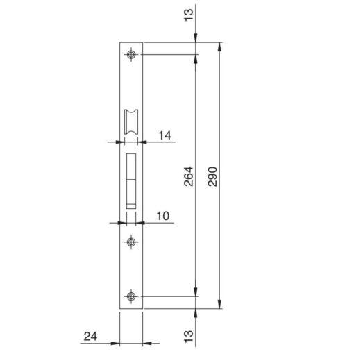 Iseo Electa dagschoot - Technische tekening 1