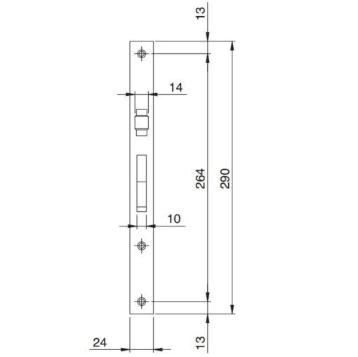 Iseo Electa rolschoot - Technische tekening 1