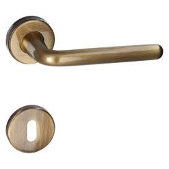 HDD PRO 6.057.060 deurkruk Magda - Brons - Rozet met baardopening