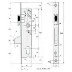 Stremler smalslot 2360 - Technische tekening