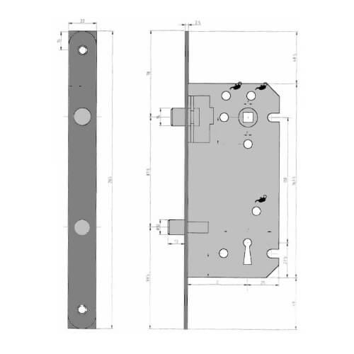 Dyla 1022 - Technische tekening