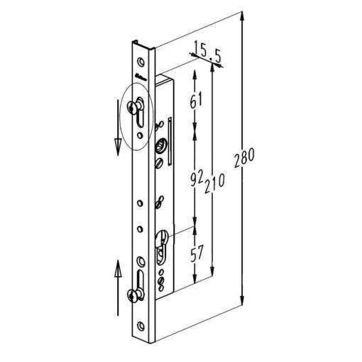 Sobinco 6792 - Technische tekening
