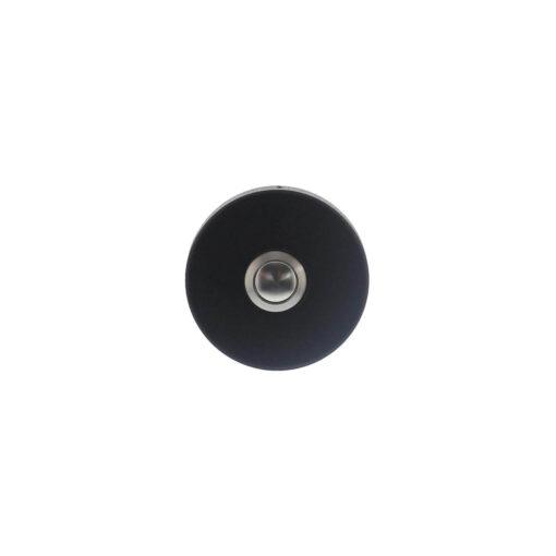 Intersteel Deurbel rond verdekt diameter 53x10 INOX/mat zwart