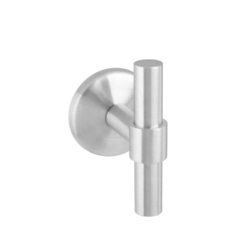 Intersteel Deurknop T-recht op ronde achterplaat INOX geborsteld