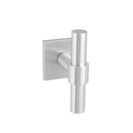 Intersteel Deurknop T-recht op vierkante achterplaat INOX geborsteld