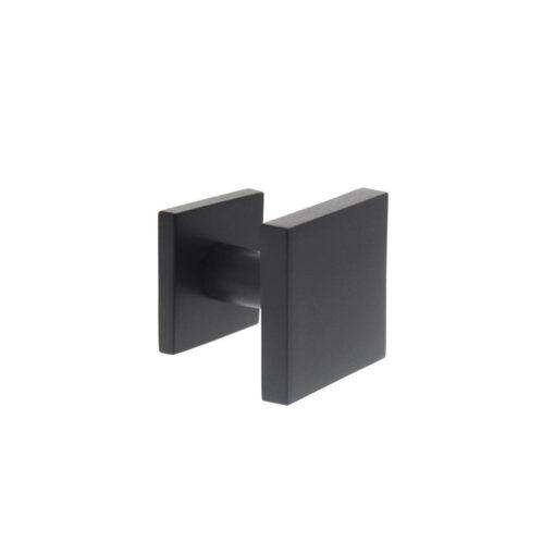 Intersteel Deurknop vast vierkant mat zwart