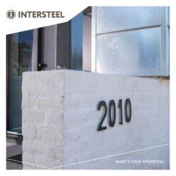 Intersteel Huisnummer 1 INOX mat zwart - Sfeerbeeld