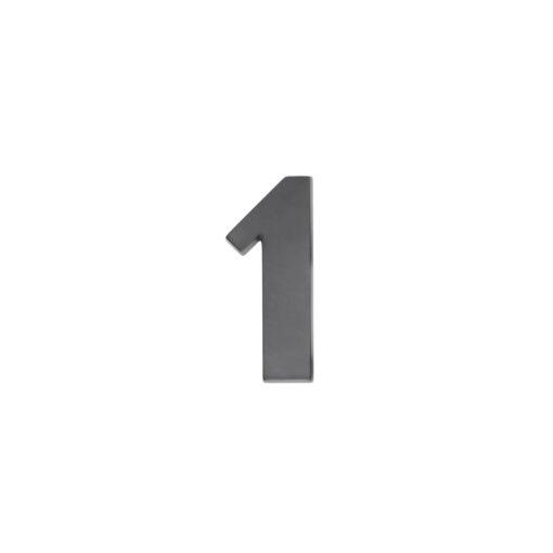 Intersteel Huisnummer 1 antraciet titaan PVD