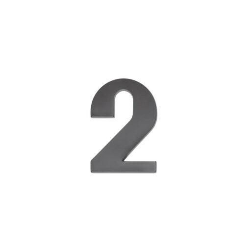 Intersteel Huisnummer 2 antraciet titaan PVD