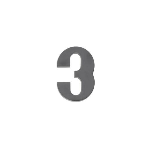 Intersteel Huisnummer 3 antraciet titaan PVD