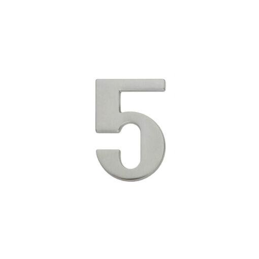 Intersteel Huisnummer 5 nikkel mat