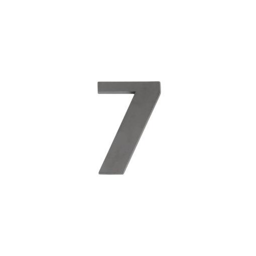 Intersteel Huisnummer 7 antraciet titaan PVD
