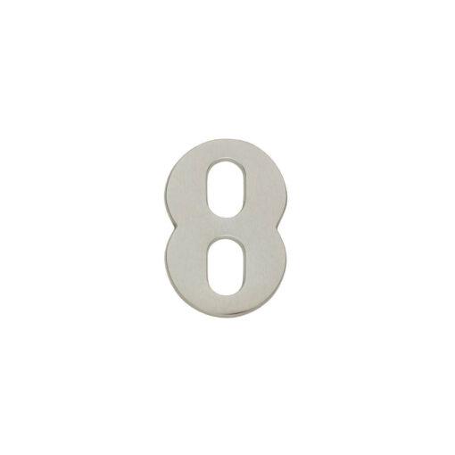 Intersteel Huisnummer 8 nikkel mat