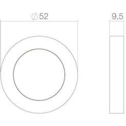 Intersteel Rozet Cali met profielcilindergat verdekt chroom - Technische tekening