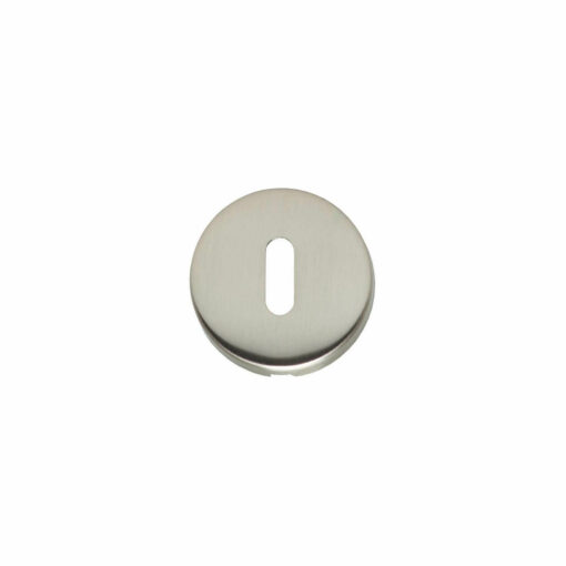 Intersteel Rozet met sleutelgat bol rond verdekt nikkel mat