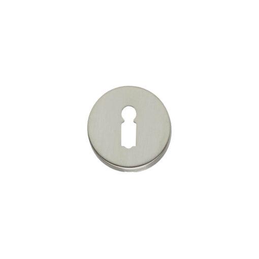 Intersteel Rozet met sleutelgat rond verdekt nikkel mat