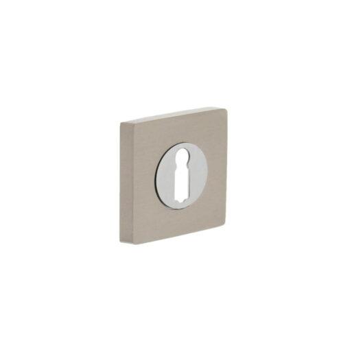 Intersteel Rozet met sleutelgat vierkant chroom
