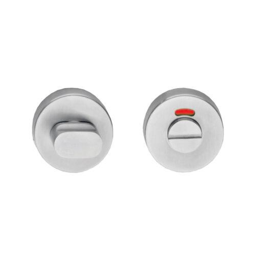 Intersteel Rozet rond 55 mm met toilet-/badkamersluiting 8 mm INOX geborsteld