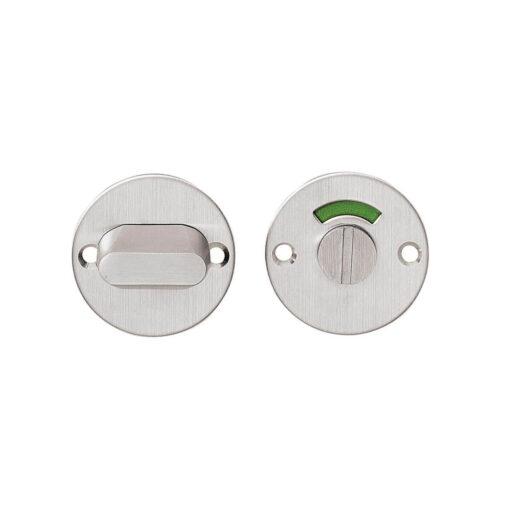 Intersteel Rozet rond plat 50 mm toilet-/badkamersluiting met 5 mm spil INOX geborsteld