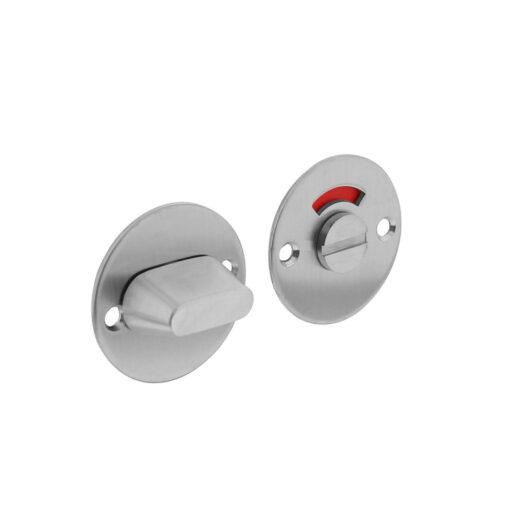 Intersteel Rozet rond plat 50 mm toilet-/badkamersluiting met 8 mm spil INOX geborsteld