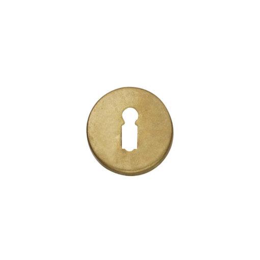 Intersteel Rozet sleutelgat rond Koper getrommeld