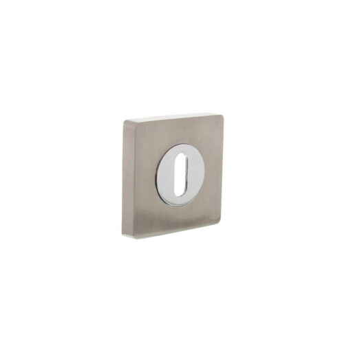 Intersteel Rozet sleutelgat verdekt vierkant chroom