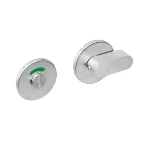 Intersteel Rozet toilet-/badkamersluiting rond plat INOX geborsteld