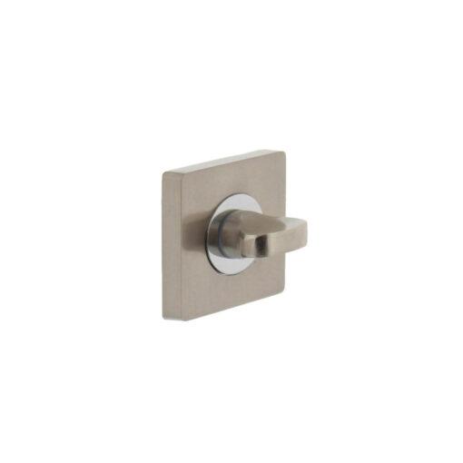 Intersteel Rozet toilet-/badkamersluiting vierkant chroom/nikkel mat