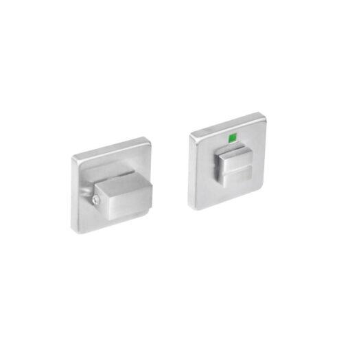 Intersteel Rozet vierkant met toilet-/badkamersluiting INOX geborsteld 8 mm