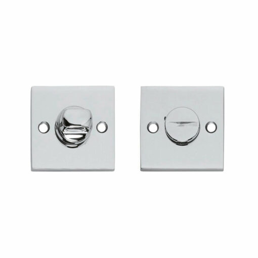 Intersteel Rozet vierkant met toilet-/badkamersluiting chroom