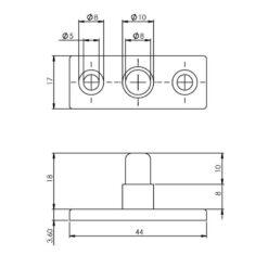 Intersteel Stelpen nikkel - Technische tekening