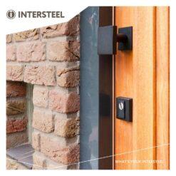 Intersteel Veiligheidsrozet SKG3 met Cilinderbescherming mat zwart - Sfeerbeeld