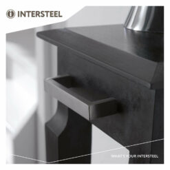 Intersteel kasttrekker rechthoek 138 mm boormaat 128 mm INOX geborsteld - Sfeerbeeld