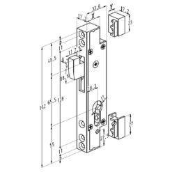 Sobinco 6760 Haakslot - Technische tekening