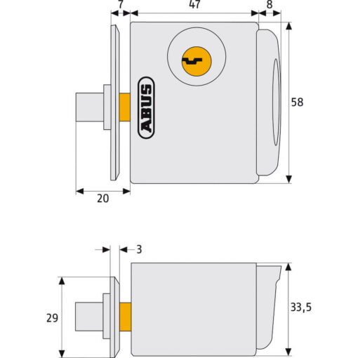 Abus FTS 3002 - Technische tekening