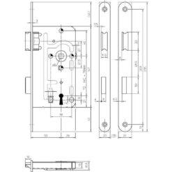 KFV Wc-slot 104 - Technische tekening
