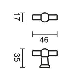 Kastrekker Petra - Technische tekening