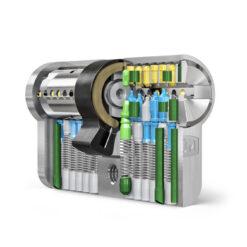 Dom IX Twido veiligheidscilinder - Doorsnede cilinder