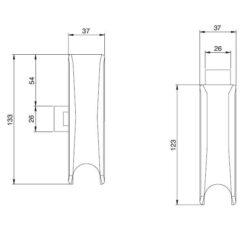 Iseo 9410204524 - Technische tekening