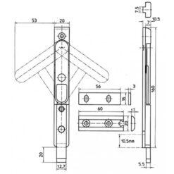 KFV Kantschuif 8033 31 - Technische tekening
