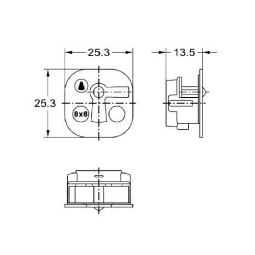 Junie 7505 00031 - Technische tekening