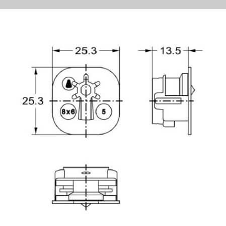 Junie 7507 00031 - Technische tekening