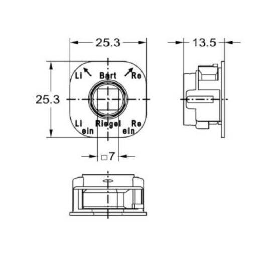 Junie 7516 00031 - Technische tekening