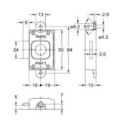 Junie 7581 16002 - Technische tekening