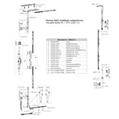 Sobinco 35810-3 basisset voor balkondeuren 10 tot 18 mm