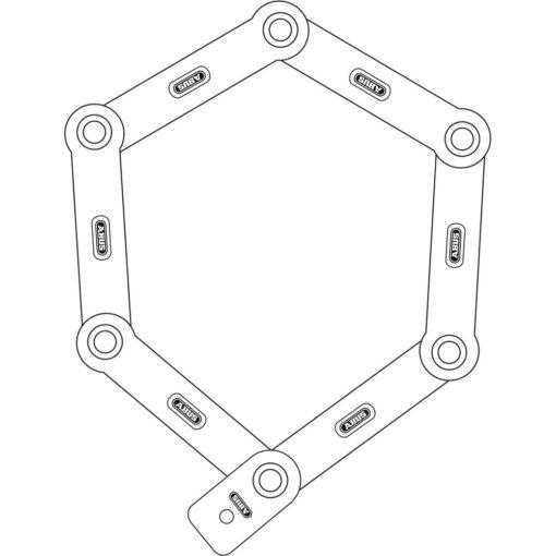 Abus Bordo 6500 85 vouwslot - Technische tekening